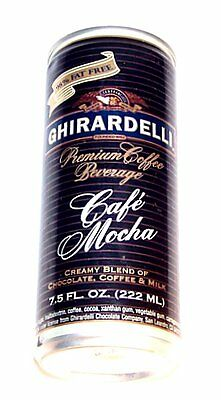 Ghirardelli Chocolate Cafe Mocha Coffee Energy Soda Pop Top Can Flat Beer MkOfr
