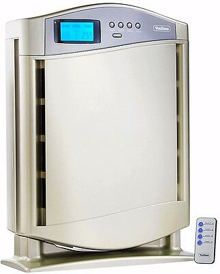 HEPA Air Purifier Ioniser Remote Control Multi Layer 4 Filter System Silver New