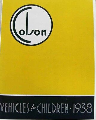 classic bicycle 1938 Colson VEHICLES FOR CHILDREN catalog of ANTIQUE BIKES
