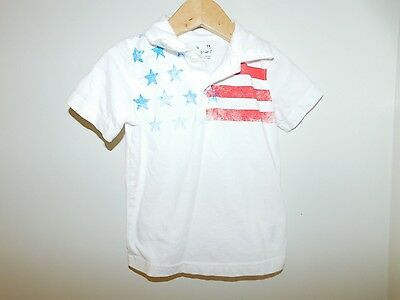 Boy's 24 Month American Flag Polo
