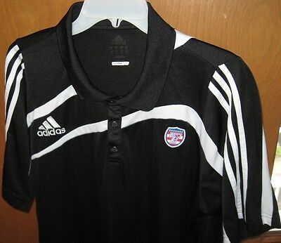 Adidas USA Sevens Rugby Shirt With Dual Embroidery Black & White Size XL NICE