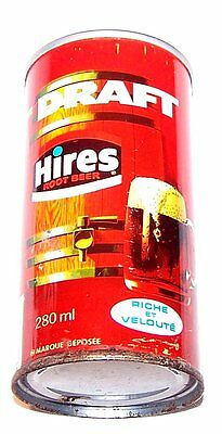 Hires Root Beer Full Canadian Push Pull Tab Top Soda Pop Can Flat Cone MkOfr