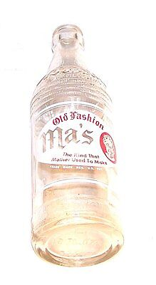 50's Old Fashion Ma's ACL Soda Pop Bottle Wilkes Barre Pennsylvania Can Sign Ofr