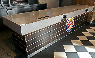 Catering Reception counter from stainless steel Work table with Cabinets