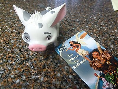 """Disney Store Pua the Pig 3"""" Inch Wind Up Toy Moana NWT"""