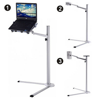 3 In 1 Height Adjustable Laptop Stand Holder 360° Rotating For iPad Phone Note