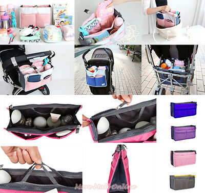Mother Bag in Bag Handbag Insert Diaper Nappy Organizer Stroller Pram Hanging