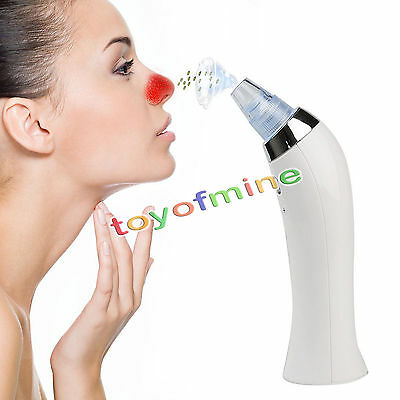 Facial Pore Cleaner Blackhead Remover Vacuum Suction Diamond Dermabrasion Device