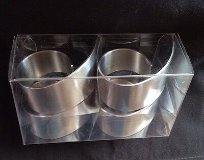 Stylish Metal Napkin Rings Set