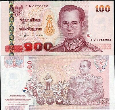 Thailand 100 Baht Nd 2005 P 114 Sign 78 Unc Nr