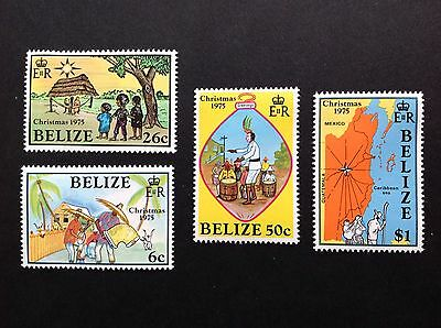 Belize 1975 Christmas Set Of 4 MNH