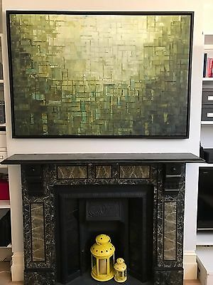 Large Abstract Hand-Painted Art Wall Oil Painting on Canvas framed