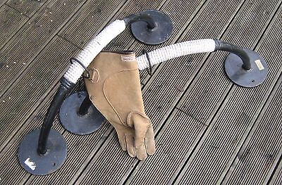 2 Falconry real bow shaped perches and Glove