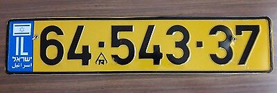 * ISRAEL Car License Plate * USED * in good condition *