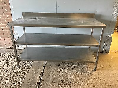stainless steel  catering table  with shelf  We Have 3 In Total