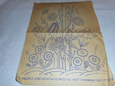Vintage Embroidery Iron on Transfer-Weldons No. 20732- Flowers