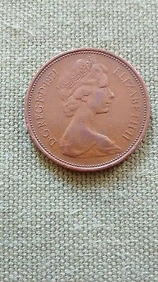 RARE 2p BRITISH NEW PENCE COIN DATED 1971