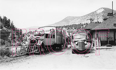 Rio Grande Southern (RGS) Galloping Goose 5 at Placerville in 1940 - 8x10 Photo