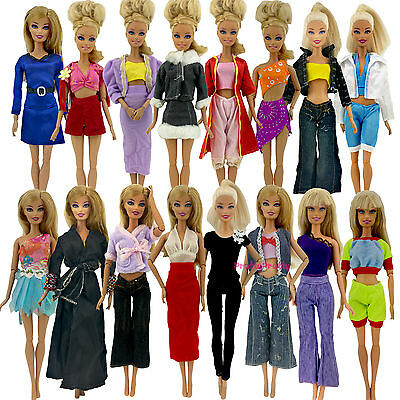 5x Random Youth Morden Outfits Clothes Trouses Blouses Jacket For Barbie Doll Z4