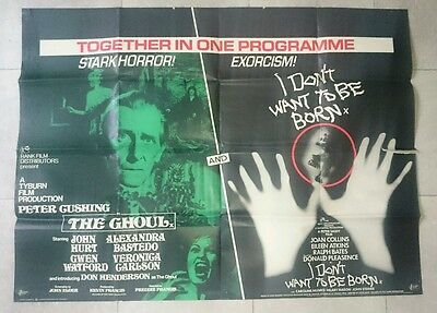 THE GHOUL/I DON'T WANT TO BE BORN 1974 Original UK Quad Cinema Poster