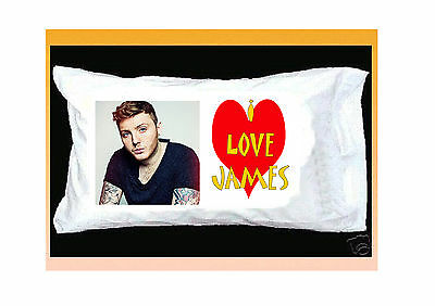 I Love James Arthur White Pillowcase With Red Heart