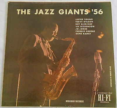 THE JAZZ GIANTS '56 Lester Young  Roy Eldrige Norgran Records Blue Note Prestige