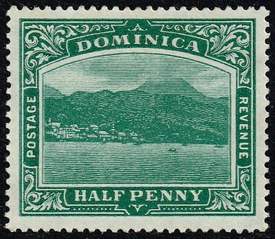 Dominica 1908-20 ½d. Roseau from the sea, MH (SG#47b)