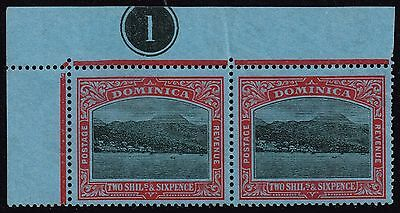 Dominica 1921-22 2s.6d. Roseau from the sea, MNH pair (SG#70)
