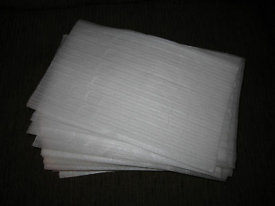 Clean 100 Soft White Recycled Packing Foam Foam Packing Sheets Used 7 3/4 X12