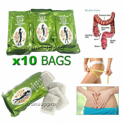 10 Bags Tea Herbal Sliming Teatox Detox, Clean Colon,Weight loss,Diet Slim Fit