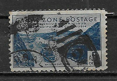 CANAL ZONE , US , 1939 , 25 ANNIV. , 5c STAMP , PERF , USED