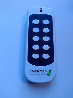 Energenie Additional / Replacement Radio Remote Control for Wireless Socket Sets