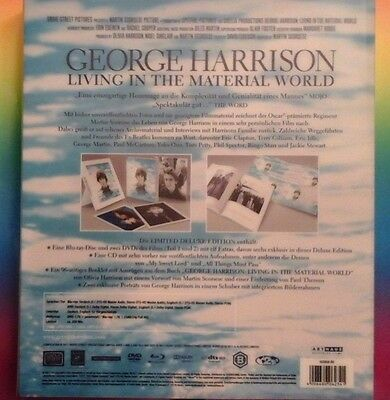 George Harrison - Living In The Material World Deluxe Set -1x CD, 2x DVD +Bluray