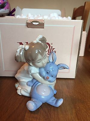 NAO Lladro #1263 Girl With Rabbit
