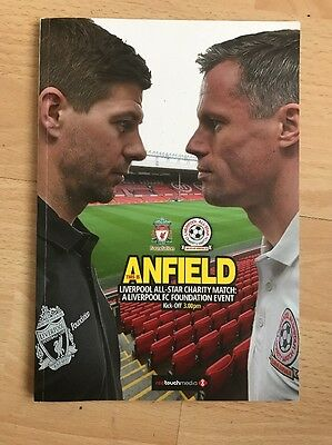 Liverpool Fc All Star Charity Match 29/3/15 Programme.