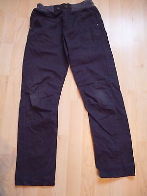 Boys Cotton Elasticated Waist Trousers 12-13 years navy George
