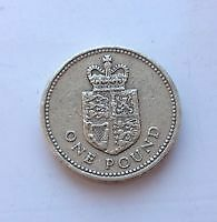 1988 One Pound Coin Crowned Shield Of Royal Coat Of Arms (Rare)