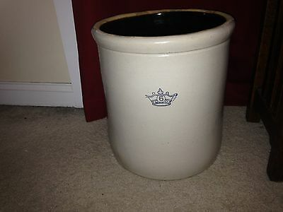 Ransbottom Brothers Pottery  6 Gallon Crock - nice umbrella holder