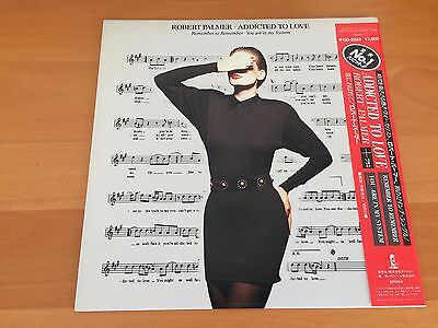 12 Inch Single Robert Palmer Addicted To Love Japan Promo Obi