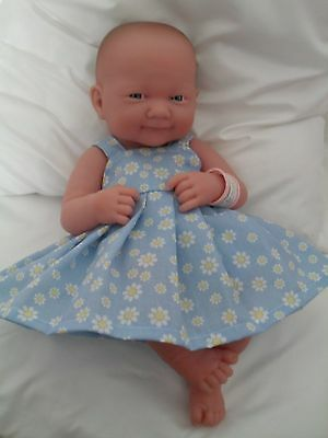 "14"" Pinny Dress Dolls Clothes Fit Little Baby Born First Annabell 34Cm"