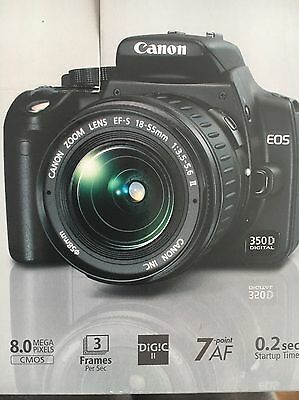 Canon Eos 350d digital camera with EF-S 18-55 lens Kit