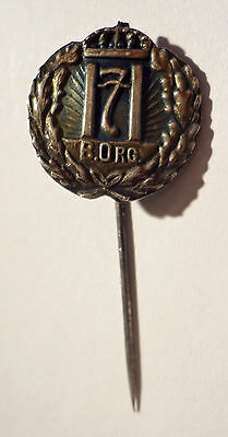 Norway MILORG B.ORG badge - silvered colour
