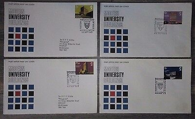 1971 Set of 4 Universities first day covers. All with better special handstamps.
