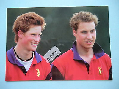 Original Postcard Prince William & Prince Harry After Playing Polo