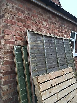 Fence  Panels 3 6x5 And 1 6x6 Size