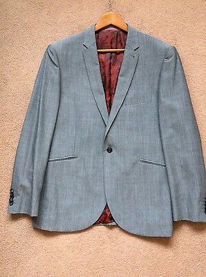 Gents Brand New No Tags Designer Silver Grey Suit Size 44R
