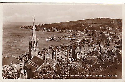 General View, From Chapel Hill, ROTHESAY, Isle Of Bute RP