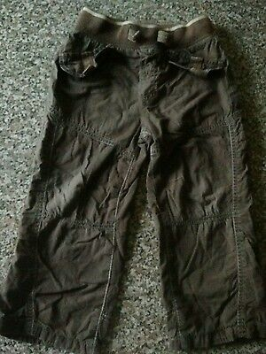 Boys lined, brown trousers/pants, 2-3 years, next