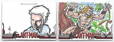 Lot of 2 2015 UD Ant-Man Sketch Cards William Withers, Matt Santorelli