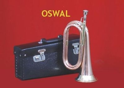 Great Sale! New Excellent Tuneable Militaria Bugle Free Hard Case+M/p+Free Ship